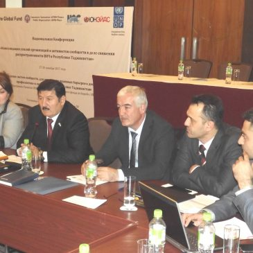 The National Conference on Consolidation of Efforts of Organizations and Community Activists in Reducing HIV Prevalence in Tajikistan